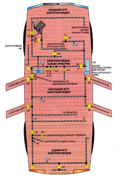 Схема проводки дэу нексия