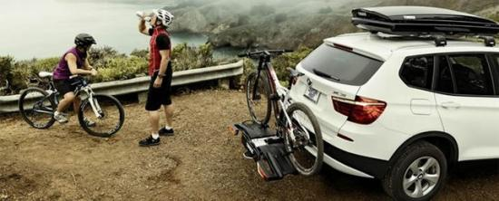 Крепление велосипеда сзади