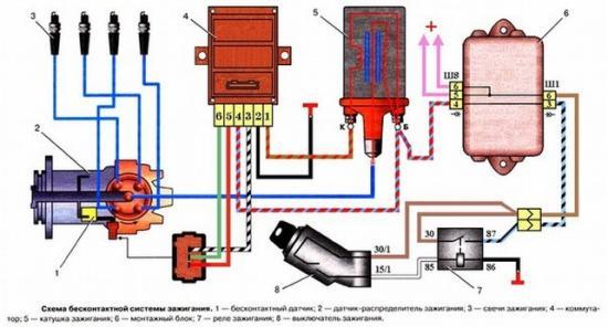 Схема установки датчика Холла