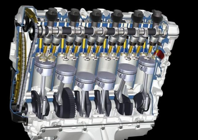 Рядный шестицилиндровый двигатель