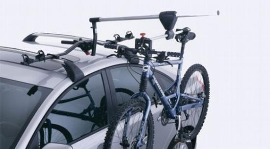 Вариант крепления велосипеда на крышу