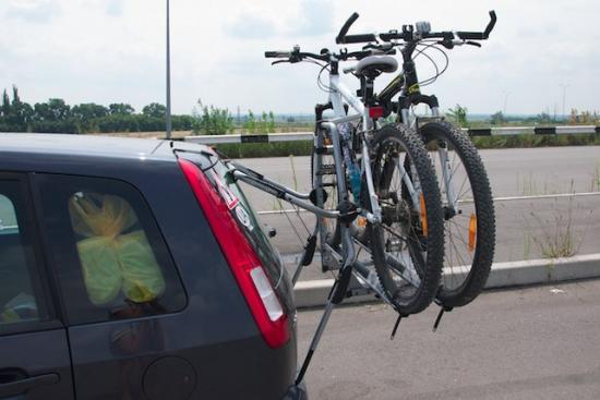 Велосипед на багажнике