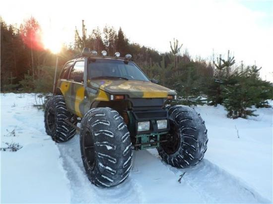Колёсный снегоход