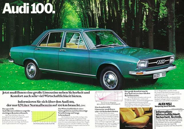Так выглядела самая первая Ауди 100 1973 года