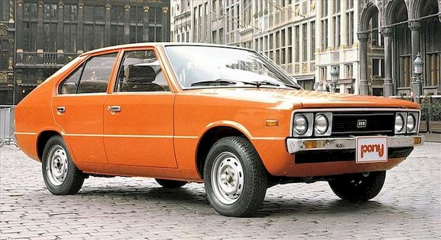 Hyundai Pony 1975, работа Джуджаро