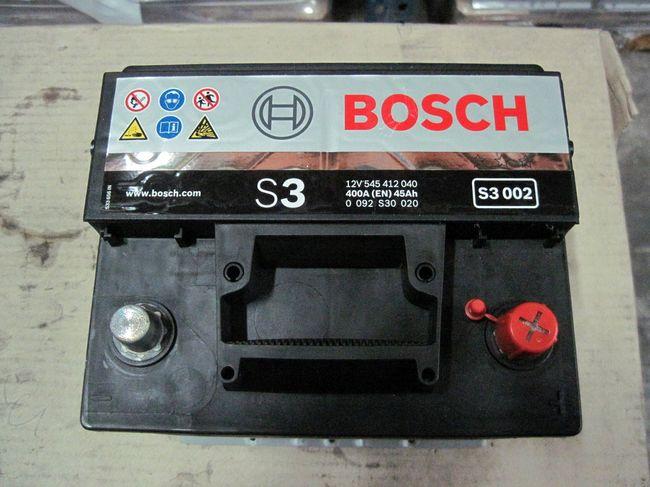 Аккумуляторы BOSCH 45 Ач S3 400 А