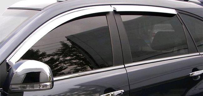 Дефлекторы окон Novline для Mazda 6 08- (хром, 4шт.)