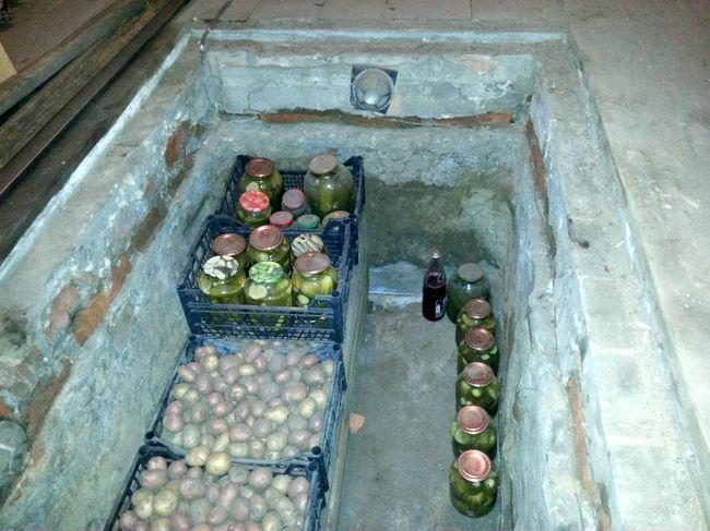 Кстати, в яме хорошо хранится картофель и не только