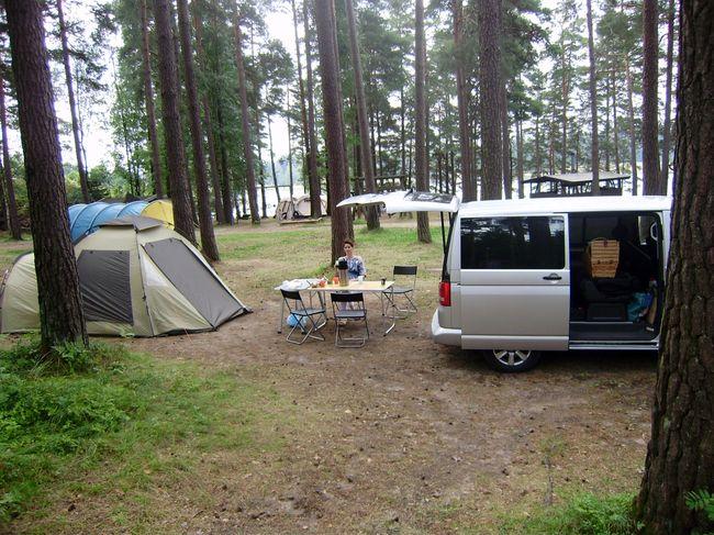 Путешествие на машине с палаткой в Финляндию