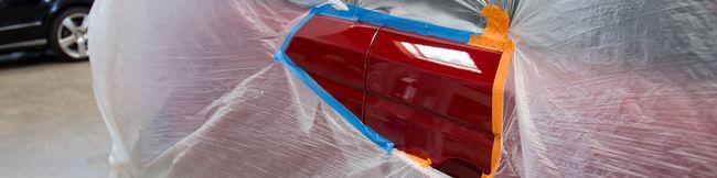 элемент автомобиля после локальной покраски